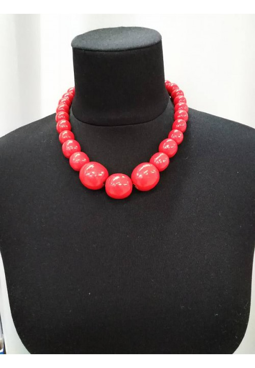 Necklace with bracelet (strung on an elastic band)