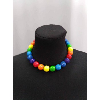 Rainbow, lacquer necklace