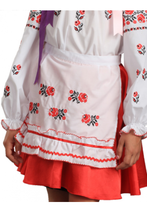 Rose, apron for a girl with embroidery, size 30-34