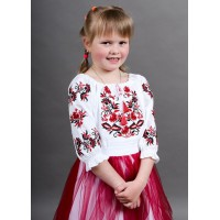 Ivanichka, blouse for a girl on calico with embroidery