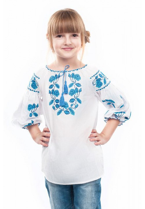 Dream, embroidered shirt for girls