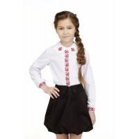 Калинонька, блузка вишита для дівчинки на сорочковій тканині