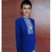 Олатирчик-2 синій, вишиванка для хлопчика