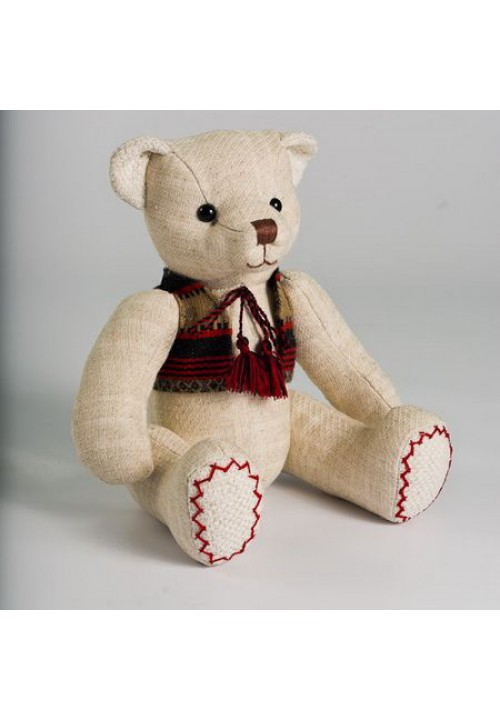 Teddy bear Zakharko, soft toy with embroidered clothes