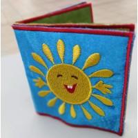 Перша книжечка малюка (м'яка книжка) з текстилю