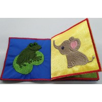 ANIMALS. THE FIRST KID'S BOOK (SOFT BOOK) WITH TEXTILES