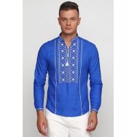 Святомир, мужская вышиванка голубая