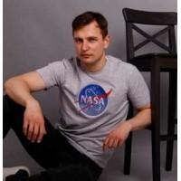 NASA, футболка чоловіча з вишивкою