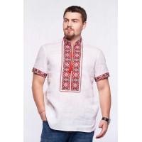 Svitozar, linen shirt with cross-stitch