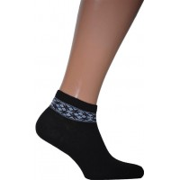 Men's short socks with embroidery (42-43)