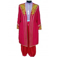 Men's red suite with embroidery