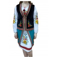 Velor corset for the Ukrainian women's suit