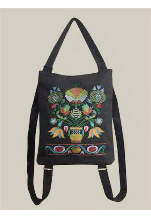 Charms, backpack bag with embroidery