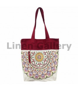 Yarilo, linen bag with embroidery