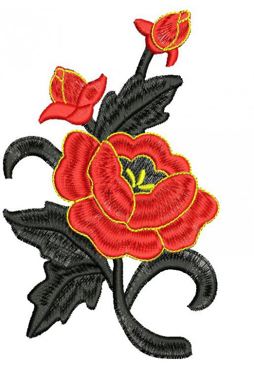 Program for machine embroidery Rose