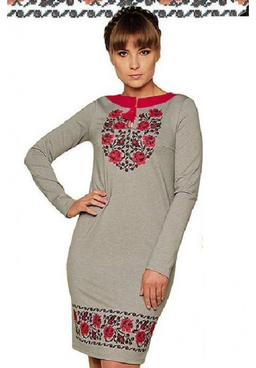 Rose dew, women's embroidered dress