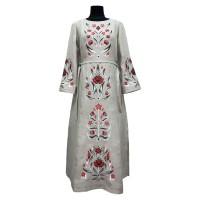 Тиса, сукня жіноча лляна з вишивкою