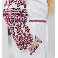 Zlata, white long dress with embroidery
