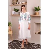 Ярославна, сукня жіноча з костюмної тканини