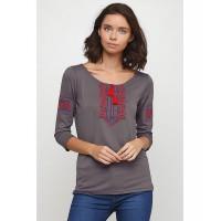 София футболка с длинными рукавами, серого цвета