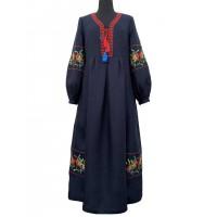 Барви, сукня жіноча лляна з вишивкою
