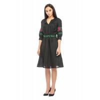 Мари, женское вышитое платье из льна