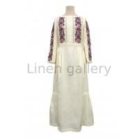 Ешлі, біла вишита лляна сукня