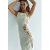 Рум'яна вишита лляна сукня