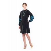 Dobrolyub's women's dress on a black jersey