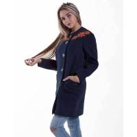 Маки, пальто темно-синее