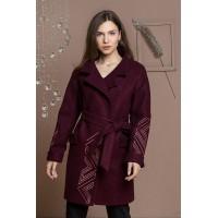 Пальто жіноче Sophie (бордовий) з приміркою