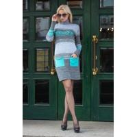 Вязаное плаття з карманами «Муліне»
