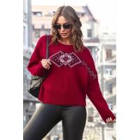 Ethno, knitted jumper oversize
